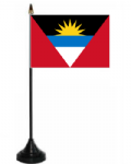 Antigua & Barbuda Desk / Table Flag with plastic stand and base.